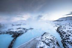 La lagune bleue célèbre près de Reykjavik, Islande photos stock
