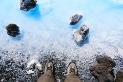 La lagune bleue, Islande Photographie stock