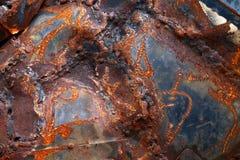 La lamiera di acciaio, ruggine su struttura del piatto d'acciaio, riveste di ferro la vecchia ruggine del fondo immagini stock libere da diritti