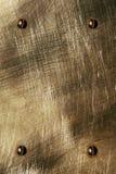 La lamiera sottile marrone Fotografia Stock
