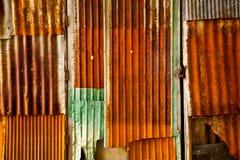 La lamina di metallo arrugginita Immagini Stock Libere da Diritti