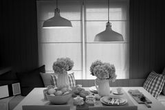La lampada bianca Fotografia Stock