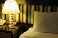 La lampada in camera da letto Fotografia Stock Libera da Diritti