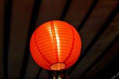 La lampada cinese rossa di tradizione fotografia stock