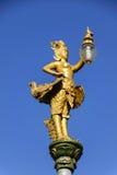 La lampada della statua si illumina Fotografia Stock Libera da Diritti