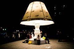 La lampada - DES Lumieres 2010 di Fete fotografia stock libera da diritti