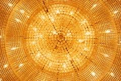 La lampada di pendente dorata Fotografie Stock