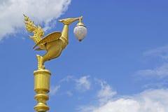 La lampada dorata del cigno Immagine Stock Libera da Diritti