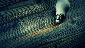 La lampada economizzatrice d'energia ha condotto la lampadina Lampadina piombo archivi video