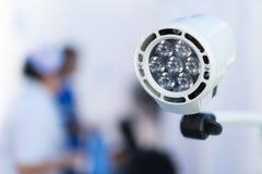 La lampada nella sala operatoria nell'ospedale Fotografie Stock Libere da Diritti