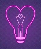 La lampada sotto forma di cuore Fotografia Stock
