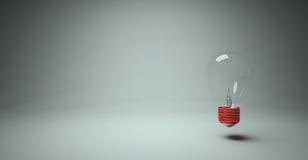 La lampadina è concetto di idee Immagini Stock Libere da Diritti