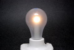 La lampadina è sopra Fotografia Stock Libera da Diritti