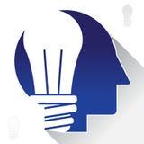 La lampadina ispira il grafico astratto Fotografia Stock