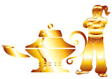 La lampe d'Aladdin dans le blanc Photos libres de droits