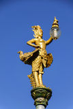 La lampe de statue illuminent Photographie stock libre de droits
