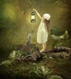 La lampe magique Images libres de droits