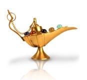 La lampe magique d'Aladdin avec des perles image libre de droits
