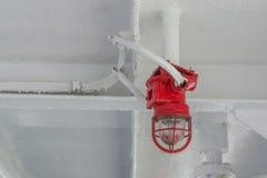 La lampe rouge sur le ferry Photos stock