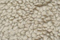 La lana artificiale gradisce la pelle di pecora Fotografia Stock