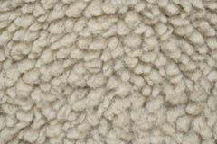 La lana artificiale gradisce la pelle di pecora Fotografie Stock Libere da Diritti