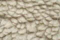 La lana artificiale gradisce la pelle di pecora Immagini Stock Libere da Diritti