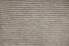 La lana di Brown tricotta la struttura Fotografie Stock