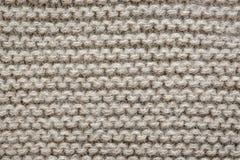 La lana di Brown tricotta la struttura Immagine Stock Libera da Diritti