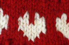 La lana naturale di struttura tricotta il modello Immagine Stock
