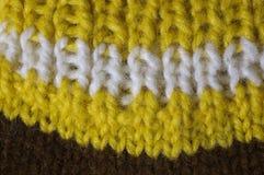 La lana naturale di struttura tricotta il modello Immagine Stock Libera da Diritti