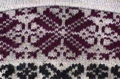 La lana naturale di struttura tricotta il modello Immagini Stock Libere da Diritti