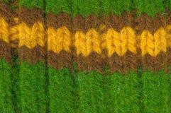 La lana naturale di struttura tricotta il modello Fotografia Stock
