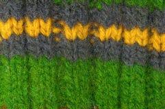 La lana naturale di struttura tricotta il modello Fotografie Stock Libere da Diritti