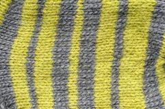 La lana naturale di struttura tricotta il modello Fotografia Stock Libera da Diritti
