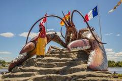 La langosta más grande del ` s del mundo - Shediac Foto de archivo libre de regalías