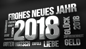 La langue allemande pendant la nouvelle année 2018 3d rendent Photo stock
