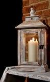 La lanterna, candela, luce, si rilassa Fotografia Stock Libera da Diritti