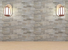 La lanterna nell'interno di progettazione della stanza in 3D rende l'immagine Immagine Stock Libera da Diritti