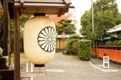 La lanterna in tempio giapponese Fotografia Stock