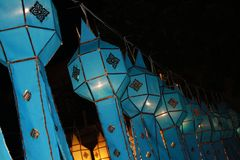 La lanterne bleue Photo stock