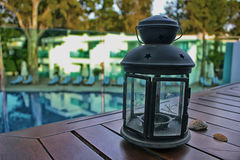 la lanterne 3d d'isolement par fond rendent le blanc Photographie stock