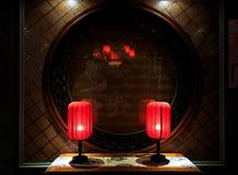la lanterne 3d d'isolement par fond rendent le blanc Image stock