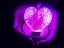 La lanterne de coeur Photos libres de droits