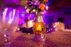 La lanterne est arrangement d'équipement dans la réception Image stock