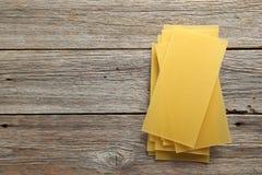 La lasaña cubre las pastas Imagen de archivo
