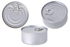 La lata de aluminio conserva aislado imágenes de archivo libres de regalías