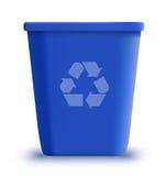 La latta di immondizia di vettore ricicla Immagine Stock