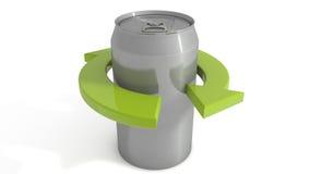 La latta di soda ricicla Immagini Stock