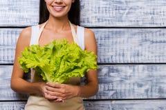 La lattuga più fresca per voi Fotografie Stock