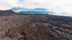 La lava del vulcano video d archivio